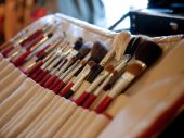 Makeup tools in their holder — Stock Photo