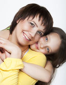 Daughter Hugging Mother — Stock Photo