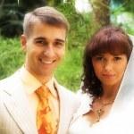 The walk of newlyweds — Stock Photo #74582905