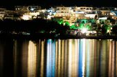 Night view of Naussa, Paros — Stock Photo