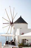Windmill in Oia, Santorini, Greece — Stock Photo