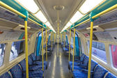 Underground train of London tube — Stock Photo