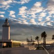 Lighthouse in Malaga in Andalusia, Spain — Stock Photo #63423837