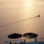 Sunset over the Aegean Sea, Oia, Santorini, Greece — Stock Photo #63509671