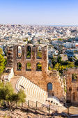 Stone theatre Odeon of Herodes Atticus in Athens, Greece — Stock Photo