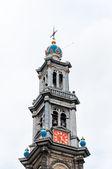 Wester kule Kerk, Amsterdam, Hollanda — Stok fotoğraf