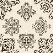 Corner baroque set — Vector de stock