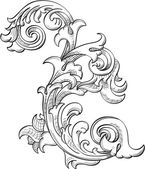 Acanthuse flower — Stockvector