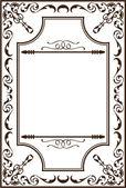 Ornate baroque page — Stockvector