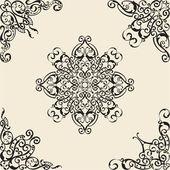 Elementos angulares barroco — Vector de stock