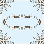 Victorian art page — Stock Vector