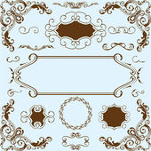 Baroque nice set — Stock Vector