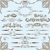 Victorian style setVictorian style set — Stock Vector