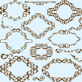 Ornate nice victorian set — Stock Vector