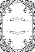 Victorian Ornate Art Page — Stock Vector