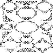Victorian swirl ornate set — Stock Vector