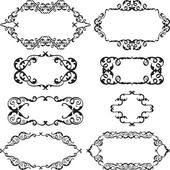Victorian swirl set — Stock Vector