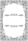 Gothic fine art frame — Vector de stock