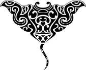 Stingray maori — Stock Vector