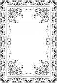 Victorian scroll art frame — Vetor de Stock