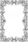 Vintage baroque old frame — Stock Vector