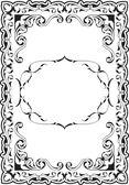 Vintage scroll frame — Stock Vector