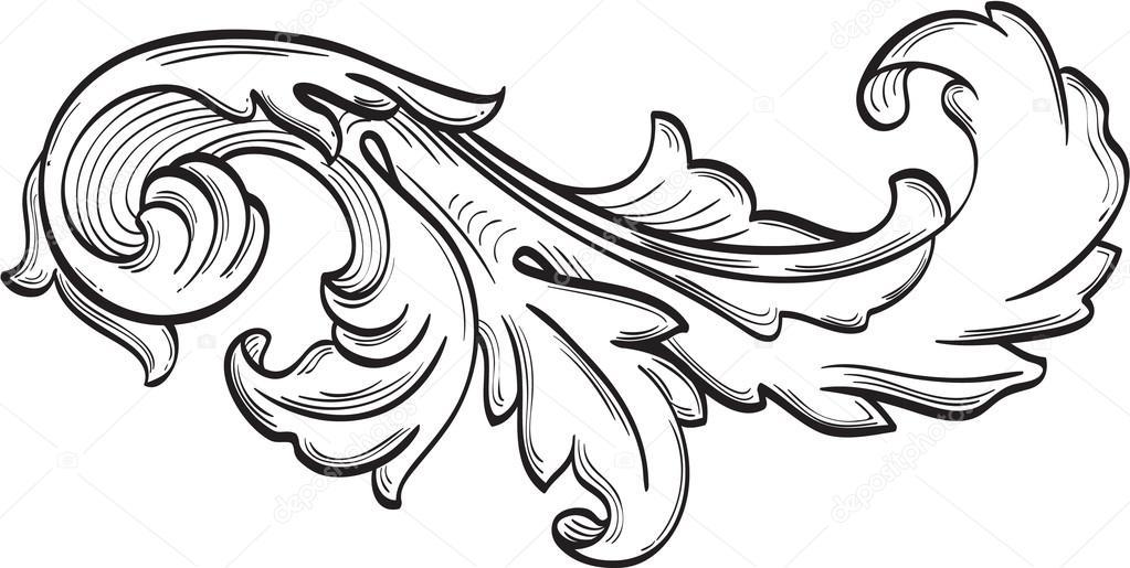 La feuille d 39 acanthe d filement agr able image vectorielle 84000328 - Feuille d acanthe ...