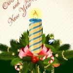 Merry Christmas Greeting Card — Stock Vector #56926437