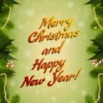 Merry Christmas Greeting Card — Stock Vector #58575459
