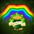 Patrick's Day Card with  Leprechaun Hat — ストックベクタ #63705881