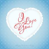 Blue Valentines Day Greeting Card — Stock Vector