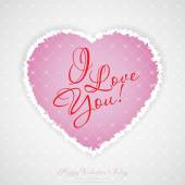 Valentines Day Greeting Card — Stockvektor