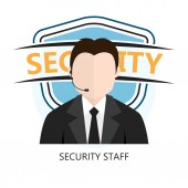Icon of Security Staff — Stock Vector