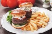 Mini hamburgersmini hamburguesas — Stockfoto