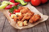 Southern fried chicken wings — Стоковое фото