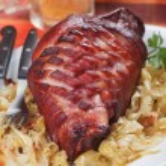 Roasted pork knuckle — Stock Photo #59583727
