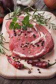 Raw ribeye steak — Stock Photo