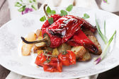 Roasted peppers and vegetable — Stock Photo