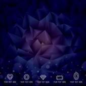 Geometric Dark Background — Stockvektor