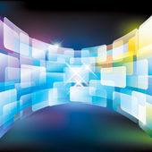 стена экрана — Cтоковый вектор