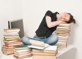 Slipping student — Stock Photo