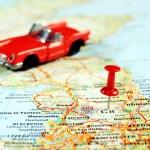Great Britain  map pin car — Stock Photo #53991661
