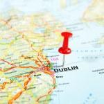Dublin Ireland  ,United Kingdom  map — Stock Photo #54150929