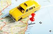Aberdeen İskoçya İngiltere harita taksi — Stok fotoğraf