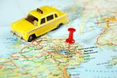 Belfast  Ireland  ,United Kingdom  map taxi — Stock Photo