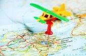 Belfast  Ireland  ,United Kingdom  map airplane — Stock Photo