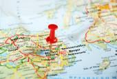 Belfast  Ireland  ,United Kingdom  map — Stock Photo