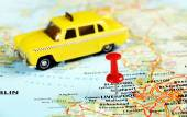 Liverpool UK  map taxi — Stock Photo