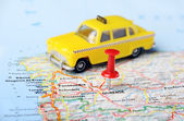 Ourense  ,Spain map taxi — Stock Photo