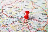 Mapa de Brasov, Roménia — Fotografia Stock